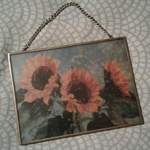 Sunflower Sun Catcher Metal Frame